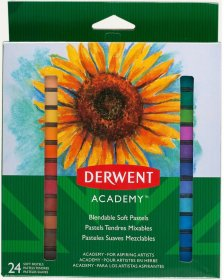 Kredki pastelowe miękkie Derwent Academy, 24 sztuki, mix kolorów