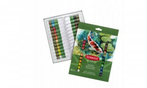 Farby akrylowe Derwent Academy, 12ml, 24 sztuki