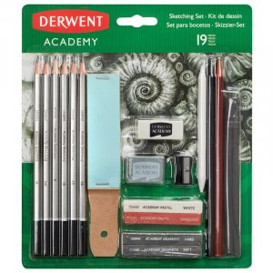Zestaw do rysowania Derwent Academy, 19 akcesoriów