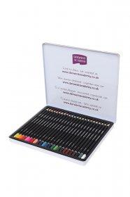 Kredki ołówkowe Derwent Academy, w pudełku metalowym, 24 sztuki, mix kolorów
