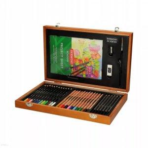 Zestaw artystyczny Derwent Academy, w drewnianym pudełku, 35 elementów, mix kolorów