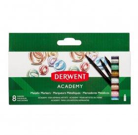 Flamastry metaliczne Derwent Academy, 8 sztuk, mix kolorów