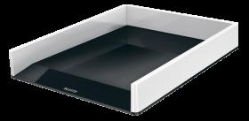 Półka na dokumenty Leitz Wow, A4, plastikowa, dwukolorowa, biało-czarny