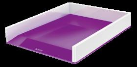 Półka na dokumenty Leitz Wow, A4, plastikowa, dwukolorowa, biało-fioletowy