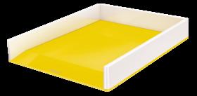 Półka na dokumenty Leitz Wow, A4, plastikowa, dwukolorowa, biało-żółty