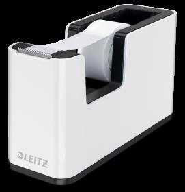 Podajnik do taśmy klejącej Leitz Wow + taśma 19mmx33mm, dwukolorowy, biało-czarny