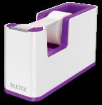 Podajnik do taśmy klejącej Leitz Wow + taśma 19mmx33mm, dwukolorowy, biało-fioletowy
