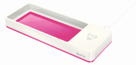 Piórnik z ładowarką indukcyjną Leitz Wow, dwukolorowy, biało-różowy