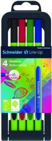 Cienkopis Schneider Line-Up, 0.4mm, 4 sztuk, mix kolorów
