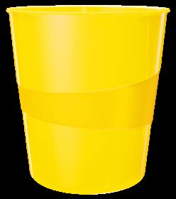 Kosz na śmieci Leitz Wow, 15L, żółty