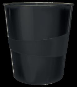 Kosz na śmieci Leitz Wow, 15l, czarny