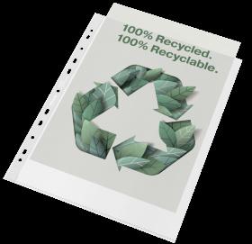 Koszulki groszkowe Esselte Recycled Premium, A4 maxi, 70 µm, 100 sztuk, transparentny