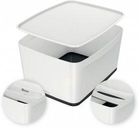 Pojemnik z pokrywką Leitz MyBox Wow, 18l, biało-czarny