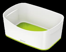 Pojemnik bez pokrywki Leitz MyBox Wow, 246x160x98mm, biało-zielony