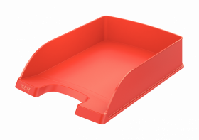 Półka na dokumenty Leitz Plus Standard, A4, plastikowa, jasnoczerwony