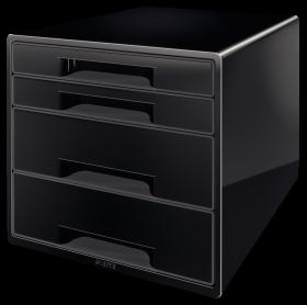 Pojemnik Leitz, z 4 szufladami, A4+, czarny