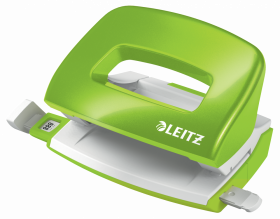 Dziurkacz mini Leitz NeXXt Wow, do 10 kartek, metaliczny zielony
