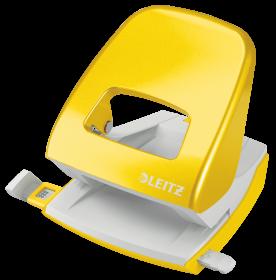Dziurkacz biurowy Leitz Wow NeXXt, do 30 kartek, metaliczny żółty