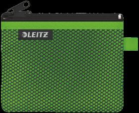 Koszulka/saszetka z suwakiem  Leitz Wow, 2 przegródki, rozmiar S, 1 sztuka,  zielony