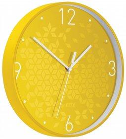 Zegar ścienny Leitz Wow, 29cm, żółty