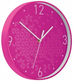 Zegar ścienny Leitz Wow, 29cm, różowy