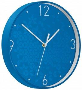 Zegar ścienny Leitz Wow, 29cm, niebieski