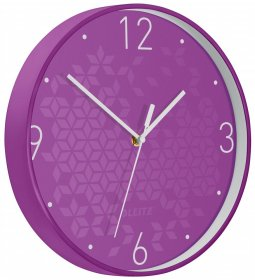 Zegar ścienny Leitz Wow, 29cm, fioletowy