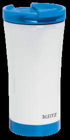 Kubek termiczny Leitz Wow, 380ml, biało-niebieski
