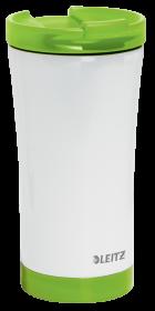 Kubek termiczny Leitz Wow, 380ml, biało-zielony