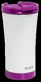 Kubek termiczny Leitz Wow, 380ml, biało-fioletowy