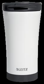 Kubek termiczny Leitz Wow, 380ml, biało-czarny
