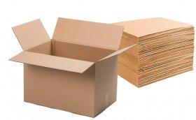 Zestaw 10x karton klapowy, 3 warstwy, 600x400x400mm, brązowy