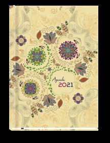 Kalendarz książkowy MiP 2021, Agenda, A5, tygodnowy, 72 kartki, beżowy