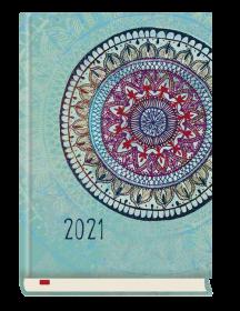 Kalendarz książkowy MiP 2021, powszechny, B6, dzienny, 180 kartek, mandala
