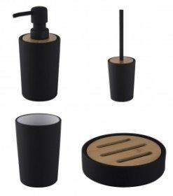 Zestaw akcesoriów łazienkowych Neve 4w1, 4 sztuki, czarny