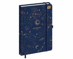 Kalendarz książkowy Interdruk 2021, A5, tygodniowy, 96 kartek, Galaxy