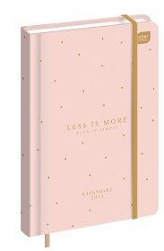 Kalendarz książkowy Interdruk 2021, B6, tygodniowy, 96 kartek, Less is more
