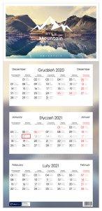Kalendarz ścienny Interdruk 2021, 320x670 mm, trójdzielny, podróże