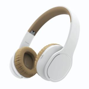 Słuchawki bluetooth Hama Touch, nauszne, z mikrofonem, biało-beżowy