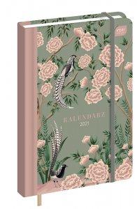 Kalendarz książkowy Interdruk 2021, B6, tygodniowy, 96 kartek, Orient