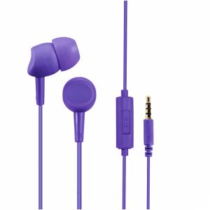 Słuchawki przewodowe z mikrofonem Hama Basic4Phone, fioletowy