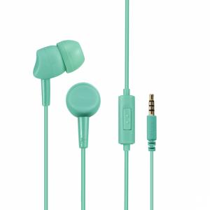 Słuchawki przewodowe z mikrofonem Hama Basic4Phone, miętowy