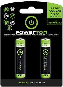 Akumulator Powerton, AAA, 1.2V, 900mAh, 2 sztuki