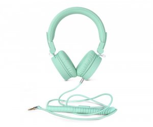 Słuchawki przewodowe z mikrofonem FRESH'N REBEL Caps, nauszne, miętowy