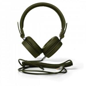 Słuchawki przewodowe z mikrofonem FRESH'N REBEL Caps, nauszne, ciemnozielony