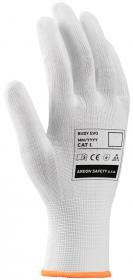 Rękawice tkaninowe Ardon Buddy Evo A9222/06,  nakrapiane, rozmiar 10, biały