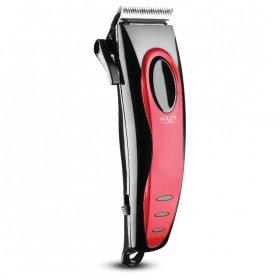 Maszynka do strzyżenia włosów Adler AD 2825, 15W, czerwony