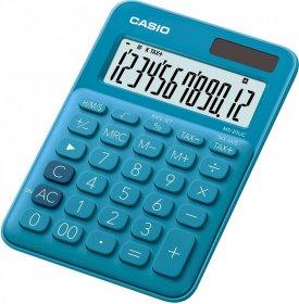 Kalkulator biurowy Casio MS-20UC-BU-S, 12 cyfr, niebieski