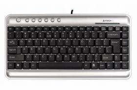 Klawiatura przewodowa A4tech Slim Ultra USB, srebrno-czarny