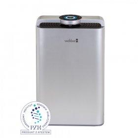 Oczyszczacz powietrza Webber AP9700 Wifi Silver, do pomieszczeń o powierzchni do 65 m2, z nawilżaczem